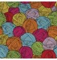 Wool balls yarn skeins Seamless pattern vector image vector image