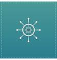 Yacht wheel symbol Helm silhouette