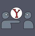 yahoo icon social company logo search engine vector image vector image