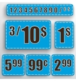 abstract set of price stickers vector image