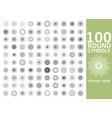 round symbols set 100 spirographs vector image