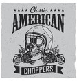 classic american choppers poster vector image