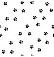 Black footprint on white background seamless vector image