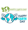 22 april happy earth day logo or greeting card vector image vector image
