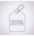 50 sale price tag icon vector image