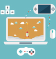 abstract flat game development concepts design vector image