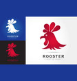 abstract rooster logo vector image
