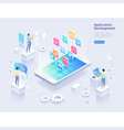 application development isometric vector image vector image