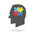 autism mind icon vector image
