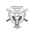 baseball tournament logotype vector image