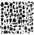 Black doodle elements vector image vector image