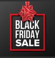 black friday sale banner business vector image