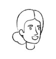 blurred silhouette of woman face with collected vector image vector image