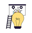 business board report stairs and bulb vector image