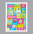 business infographic - mosaic poster with icons vector image