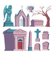 cemetery tombstone with rip inscription ossuary vector image