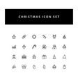 christmas icon set with outline design vector image