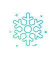 christmas snowflakes icon design vector image