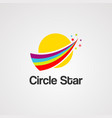 circle star logo icon element and template vector image