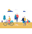 city life - flat design style colorful vector image