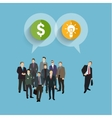 Concept of crowdfunding vector image vector image