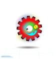 crazy gear icon on white background vector image vector image