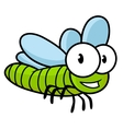 Cute little kids cartoon flying dragonfly vector image vector image
