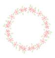 cute pink watercolor plmeria frangipani flower vector image vector image