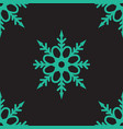 cute snowflakes seamless pattern on black vector image