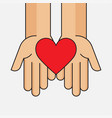 donation give and share your love to poor people vector image