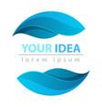 dpor water blue leaf icon logo vector image vector image