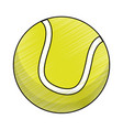 drawing tennis ball equipment vector image vector image