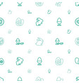 easter icons pattern seamless white background vector image vector image