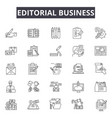 editorial business line icons signs set vector image vector image