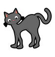 funny black cat icon vector image