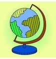 Globe Pop art vector image vector image