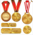 Gold medal set vector image vector image