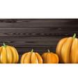 halloween background with orange 3d pumpkins vector image