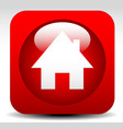 home house icon in red vector image
