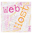 How To Find A Web Host text background wordcloud vector image vector image