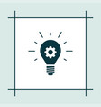 idea bulb icon simple gear vector image vector image