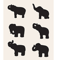 image of an elephant silhouette vector image vector image