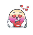 in love jelly ring candy mascot cartoon vector image vector image