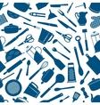 Kitchen appliances utensils seamless background vector image vector image