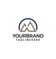 letter m mountain minimalist logo design concept vector image vector image