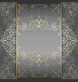 Luxury card with golden patterns vector image