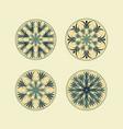 mandala ethnic ornamental set isolated vector image vector image