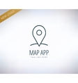 map marker on map icon element place travel vector image vector image