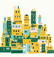 mediterranean town sunny village indian slums vector image vector image