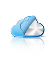 Metallic cloud computing database vector image vector image